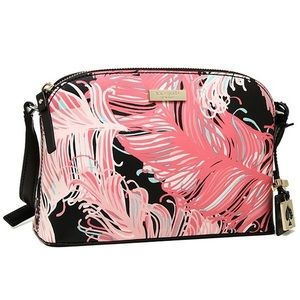 Kate Spade Pink Feather Crossbody Purse